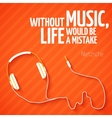 Bright headphones music wallpaper background vector image