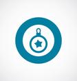 christmas decoration icon bold blue circle border vector image