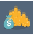 Gold Coins Icon Sign Business Finance Money vector image