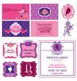 Princess Girl Birthday Set vector image