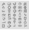 Set of linear hand drawn icons concept business vector image