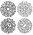 Set of ethnic round ornaments vector image vector image