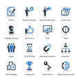 Business Icons Set 2 - Blue Series vector image vector image