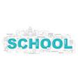 Design concept of word school website banner vector image