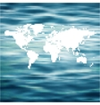 world Ocean map concept vector image