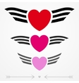Simple graphic love emblems vector image