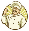good chef thumb up vector image vector image