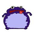 comic cartoon funny frog vector image