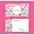 Business Card Hand Drawn Candy Sweets Background vector image