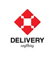 delivery anything design poster vector image