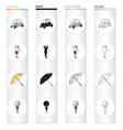 golf car golfer umbrella ball on the stand vector image
