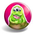 Green monster eating lolipop vector image