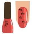 image of applying a varnish on nails vector image