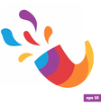 Rainbow bright logo of shofar vector image