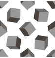 Seamless background of gray 3D cubes vector image