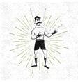 symbol of vintage boxer vector image