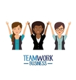 teamwork business people icon vector image