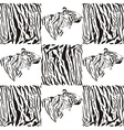 Tiger patterns for textiles and wallpaper vector image
