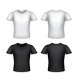 White man t-shirt template isolated vector image