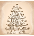 Cute of a Christmas tree in vector image vector image
