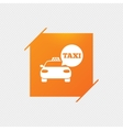 Taxi car sign icon Public transport symbol vector image