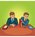 Two boys in school bulling discrimination vector image