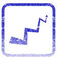 curve arrow framed textured icon vector image
