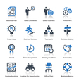 Business Icons Set 3 - Blue Series vector image vector image