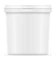 plastic container for ice cream or dessert 04 vector image vector image
