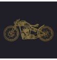 hand-painted motorcycle and lettering vector image