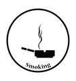 Cigarette in an ashtray icon vector image vector image