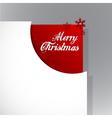 christmas corner vector image