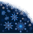 Christmas dark blue background vector image