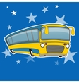 City bus icon cartoon style Yellow bus transport vector image