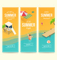 isometric summer banners vector image