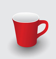 Red cup vector image