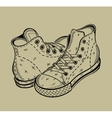 The image of sneakers Sport shoes vector image