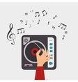 dj console note clef music vector image