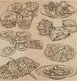 Food around the World - set Hand drawn vector image