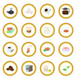 coffee and tea icon circle vector image