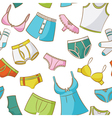 Female And Male Underwear Doodle Seamless Pattern vector image vector image
