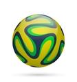Brazilian soccer ball vector image