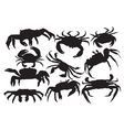 crab silhouette vector image