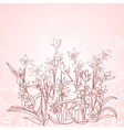 spring flowers outline background vector image