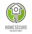 Logo Home Key House Lock Security Buiding Icon vector image