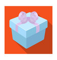 a blue gift box with a bowgifts and certificates vector image