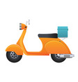 delivery scooter vector image