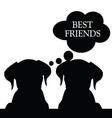 dog black silhouette vector image