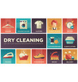 dry cleaning - set of flat design infographics vector image