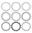 hand drawn round frames design elements vector image